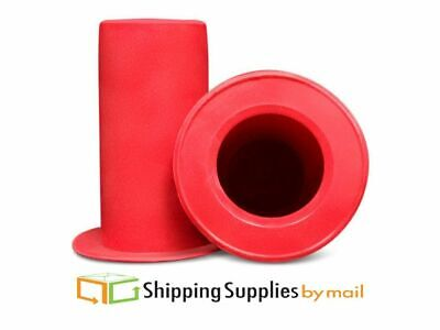 Red Tension Plastic Dispenser for Extended Core and Pipe Stretch Wrap - 1 Handle