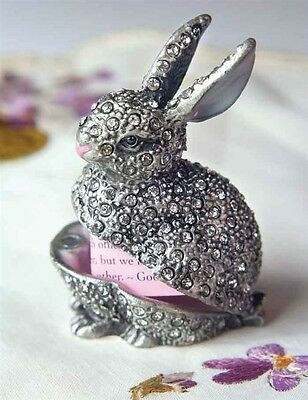 Victorian Trading Co Rhinestone Rabbit bunny box Free Ship NIB