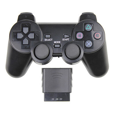 New 2.4G Wireless Dual Vibration Gaming Gamepad Controller Joystick for Sony PS2