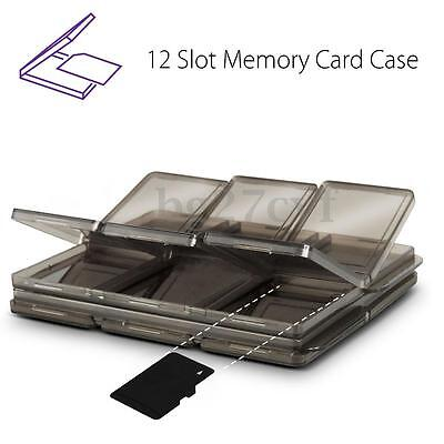 Memory Card 12 Slot Foldable SIM Micro Storage Case Box Holder SD/TF Protector