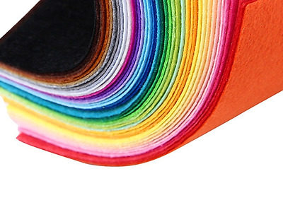 10pcs Felt 1mm Thick Craft Coloured Fabric 10x15cm craft sewing glued non woven