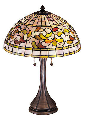"Meyda Home Indoor Bedroom Decorative Lighting 23""H Turning Leaf Table Lamp"