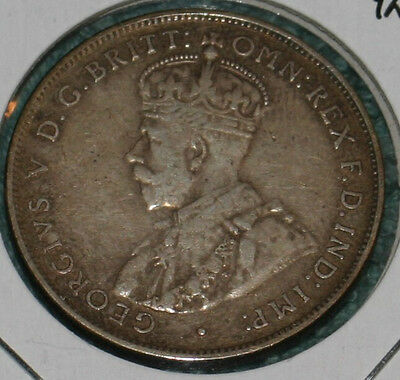 1936 Australia Florin - Two Shillings Coin - Silver