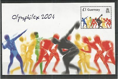Guernsey 2004 Olympic Games Minisheet Sg,ms1049 Um/m N/h Lot R307