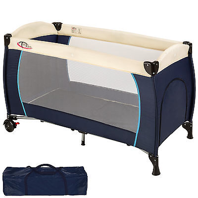 Baby Travel Cot Bed Portable Child Playpen Children Rest Play Foldable Blue