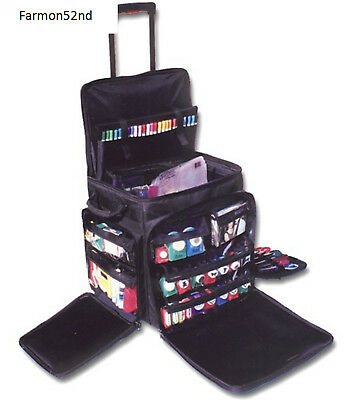 Rolling Tote for Scrapbooking Crafts Organization XXL Black NEW