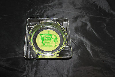 "Vintage Glass Holiday Inn of America ""The Nation's Innkeeper"" Ashtray Green"