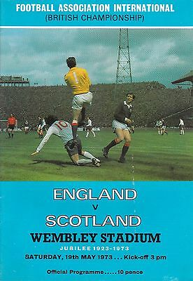 England V Scotland ~ British Championship ~ 19 May 1973 With Unknown Signature