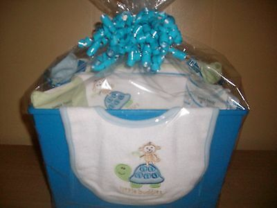 "Baby Boy ""Little Buddies"" Baby Shower Gift Basket"
