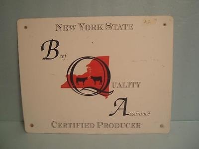 BEEF QUALITY ASSURANCE METAL SIGN   No 18'' x 14''     No. 2
