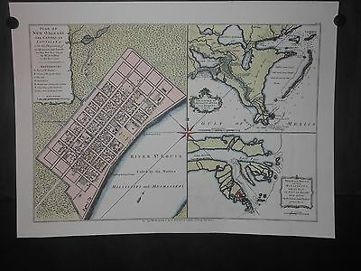 Plan Of New Orleans The Capital Of Louisiana 1720 Map Mississippi River Reprint