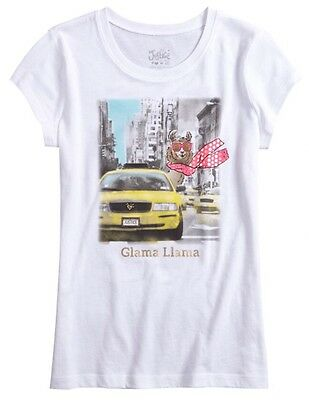 Justice llama graphic tee shirt girls clothes size 6 7 8 NWT! Free Shipping!!