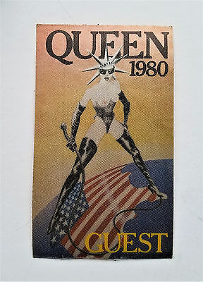"vtg (1980) QUEEN ""The Game Tour"" freddy mercury England Band Guest Access PASS"