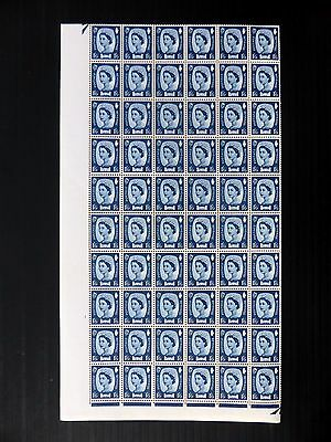 GB Northern Ireland 1/6 RARE Unwatermarked Complete Sheet of 240 Folded FP9859