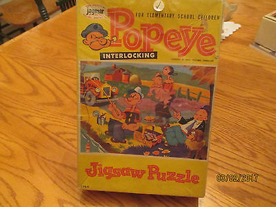 """Vintage 1964 Popeye Jigsaw Puzzle-""""A Day in the Country"""" by Jaymar"""