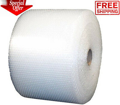 """Bubble + Wrap 3/16"""" 700 ft. x 12"""" Small Padding Perforated Shipping Moving Roll"""