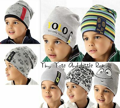 Baby Boy Infant Toddler Cotton Elastic Spring Autumn Hat Beanie 6mths - 4 years