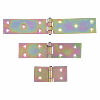 2 x Back Flap Strap Hinges Heavy Duty Zinc Plated Door Gate Box Shed 25mm 50mm
