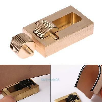 Leather Craft Making Tools Oil Painting Box + 2 Roller Brass DIY Hand Sewing Set