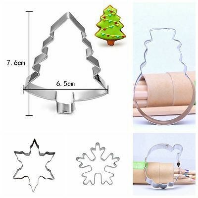 Pastry Home Kitchen Tool Christmas Cake Mold Stainless Steel Cookie Cutter