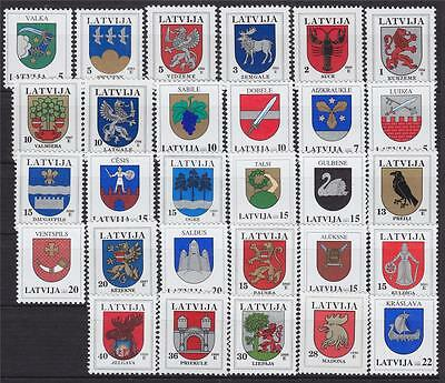 Latvia collection coat of arms 29 stamps MNH**