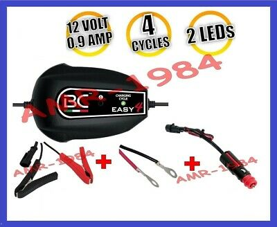 Cargador Moto BC Easy4 +Cables +Alicates + Perno a Conector New 2016