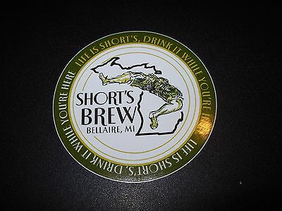 SHORTS BREWING COMPANY Life Is Short g Michigan STICKER decal craft beer brewery