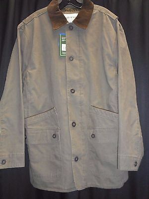 Orvis Quilted Heavy Cotton Barn Jacket New With Tags, FREE SHIPPING