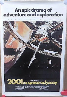 "2001: A SPACE ODYSSEY MOVIE POSTER VHS RELEASE 1980 KUBRICK 36""x24"" CLARKE"