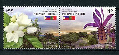 Philippines 2016 MNH Flora Flowers JIS Portugal Joint Issue 2v Set Stamps