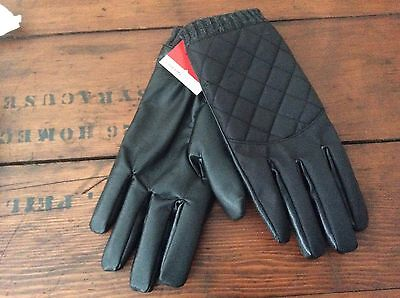 Isotoner Mens Large Black Smart Touch Thermaflex Winter Gloves New With Tags