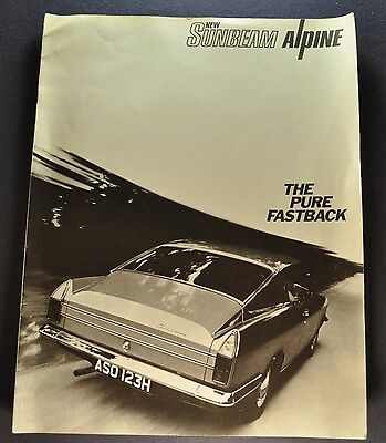 1969-1970 Sunbeam Alpine Catalog Sales Brochure US Market Nice Original