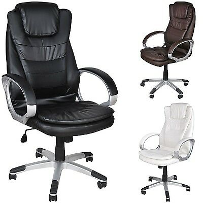Office Chair Executive Pro Swivel Faux Lether Desk #2731