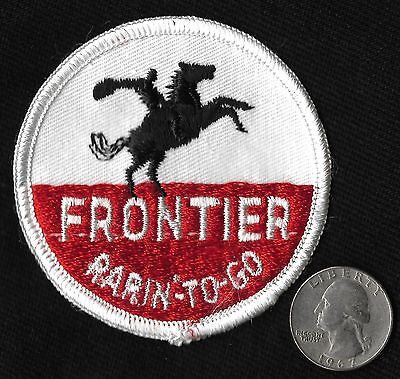 Vintage 60-70s FRONTIER Rarin' To Go Gasoline Motor Oil Hot Rod Auto Patch  RARE