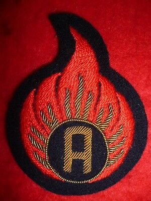 Ammunition Examiner Embroidered Trade Patch No.1 Dress Gold Bullion Sleeve Badge