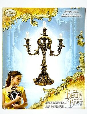 NEW Disney Beauty and the Beast Live Action LE Lumiere Candlestick Candleabra