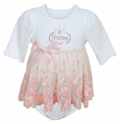 Stephan Baby Angels in Lace Pink Princess All-in-One Lace Trimmed Diaper Cover w