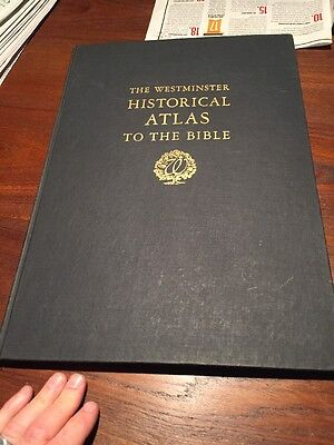 WESTMINSTER HISTORICAL ATLAS TO THE BIBLE - COLOR MAPS  1945 Large Old Book