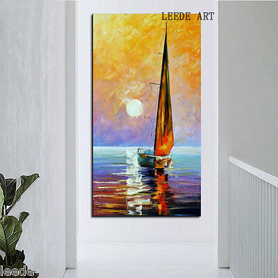 Modern Abstract Large Wall Decor Oil Painting On Art Canvas,Sailing(No Frame)
