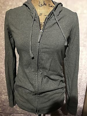 Oh Baby By Motherhood Gray Maternity Hooded Jacket Size Small