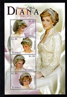 Tuvalu Mnh 2008 Ms1366 10Th Death Anv Of Diana Princess Of Wales