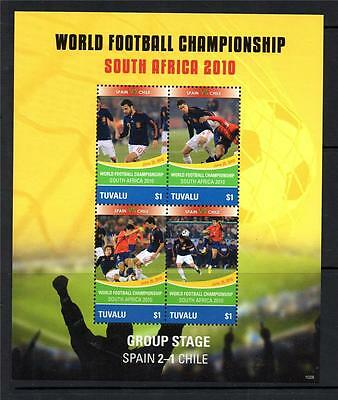 Tuvalu Mnh 2010 Ms1401 World Cup Football - Spain V Chile
