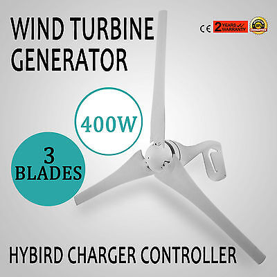 400W Wind Turbine Generator 20A Charger 800r/min Controller ISO9001