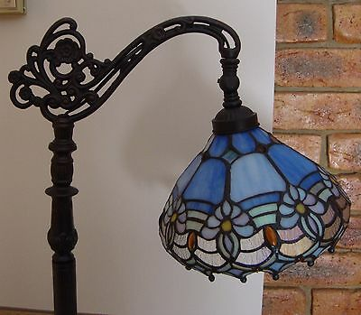 Stained Glass High Quality Floral Bridge Arm Tiffany leadlight Floor Lamp