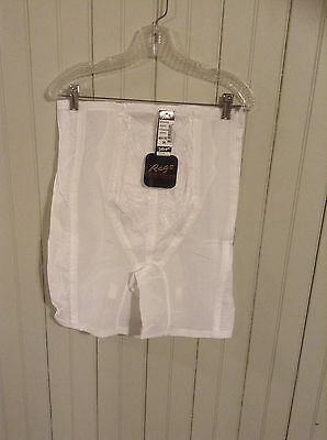NIP Vintage white Rago high waist long leg Girdle w/ zipper & garters (2hl)