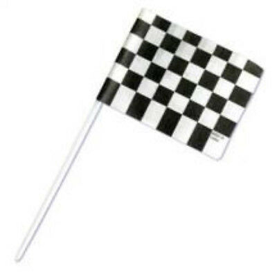 Racing Flag Cupcake Toppers - Pack of 15