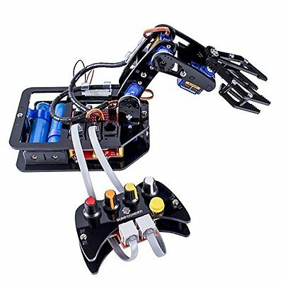 SunFounder DIY Robotic Arm kit 4-Axis Servo Control Rollarm with Wired