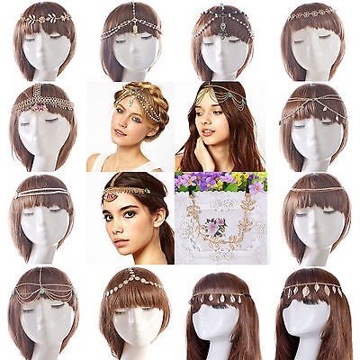 Fashion Lady Bohemia Rhinestone Head Chain Headband Headpiece Hair Band Jewelry