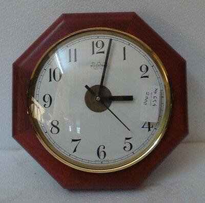 WESTERSTAND ship's Marine WALL Clock - SHIP'S 100% ORIGINAL - Made in SWEDEN