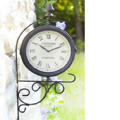 Outdoor Clock Garden Wall Outside Bracket Station 49cm BRAND NEW BOX